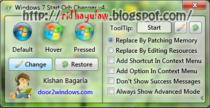 Cara Mengganti Start Button Windows 7 Image