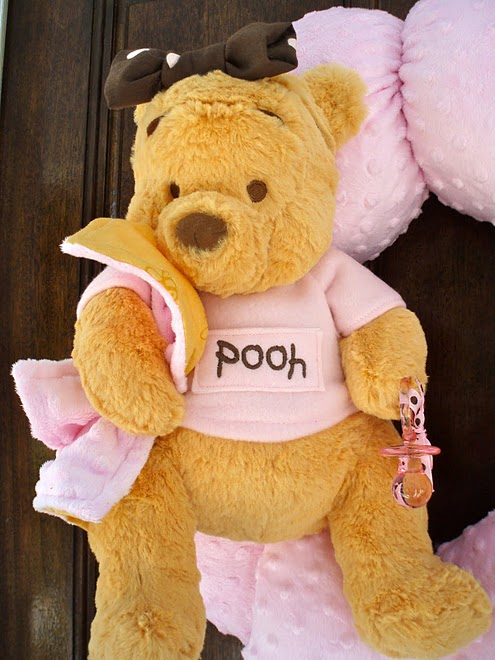 12. Pink Pooh Wreath - Close-up