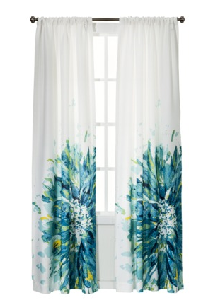 gallery for teal and white curtains