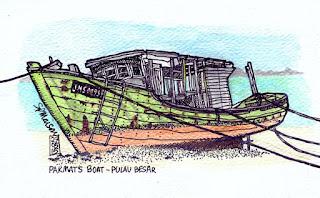Pakmat's boat - Pulau Besar
