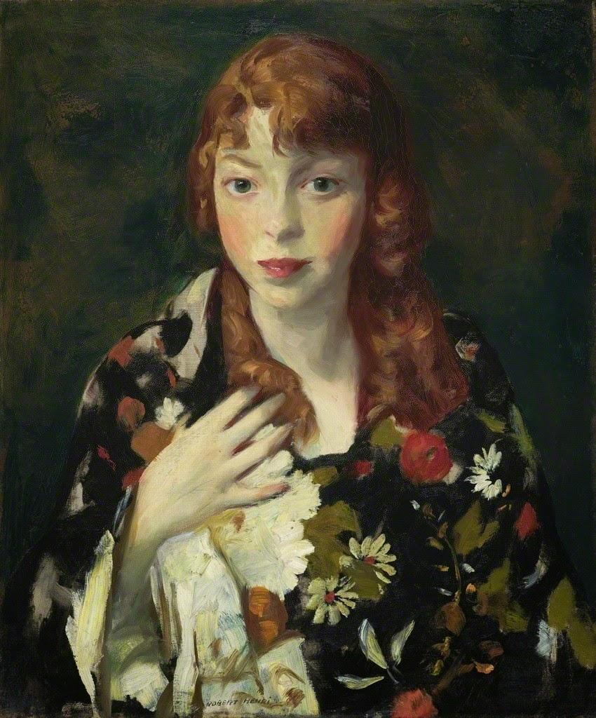 Robert Henri Edna Smith In A Japanese Wrap Ca 1915