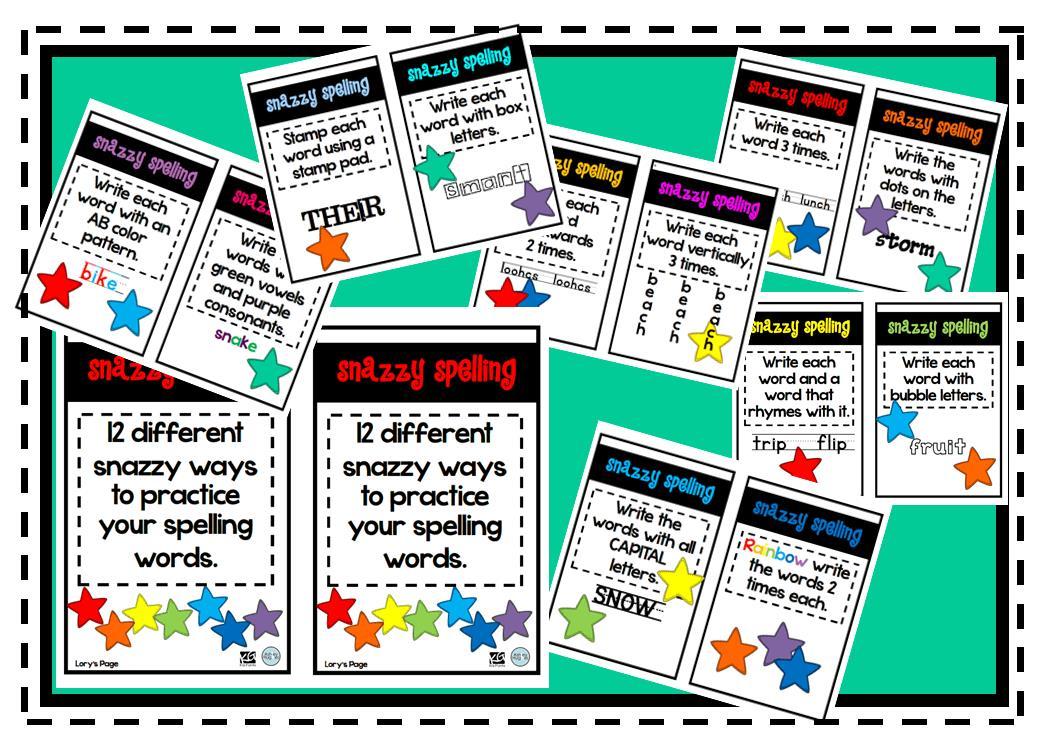 Lory\'s 2nd Grade Skills: Week 5 - Word Work / Spelling