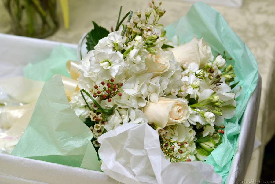 Lauren's Bridal Bouquet - White Flowers