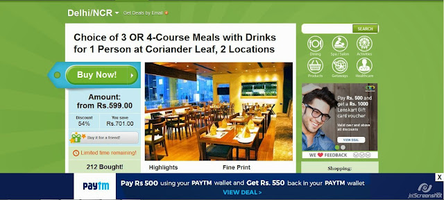 Free Cashback Loot: Groupon Loot – Pay Rs 500 and Get Rs 550 cashback in Your Paytm Wallet