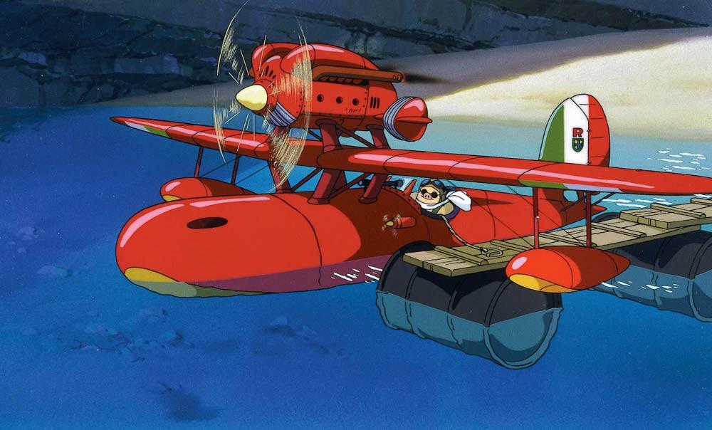 Porco Rosso Miyazaki idrovolante