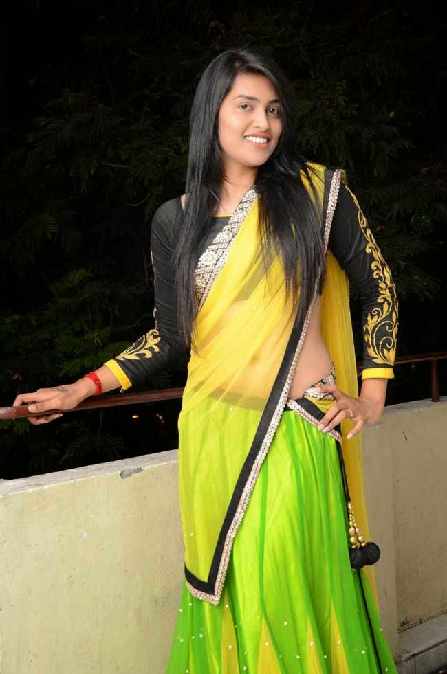 Sravanthi In Designer Half Saree