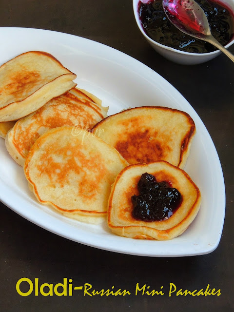 Oladi, Russian Breakfast Pancakes