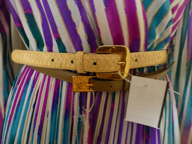 snakeskin and Anne Klein belt