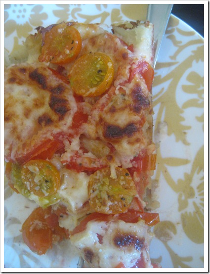 Gluten Hates Me Tomato tart on potato crust