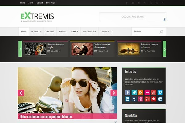 extremis-free-blogger-templates