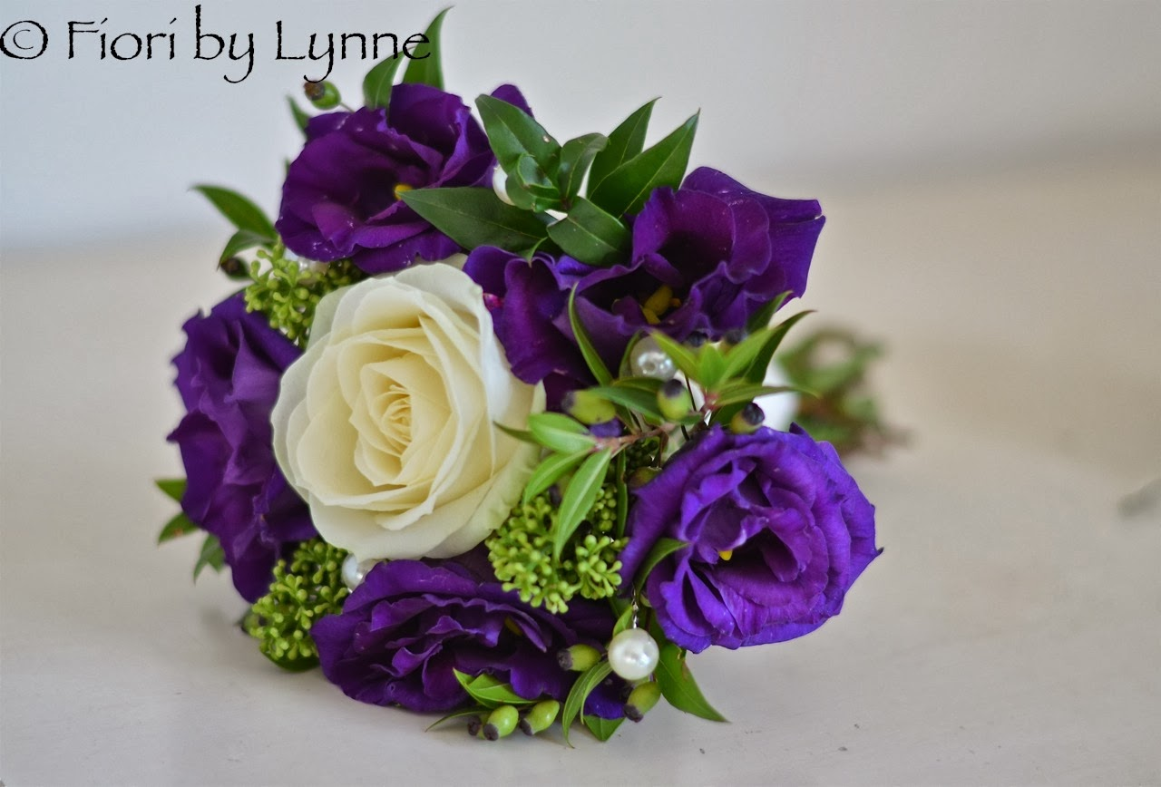 Wedding Flowers Blog: Andrea\'s Autumn Purple, Ivory & Green Wedding ...