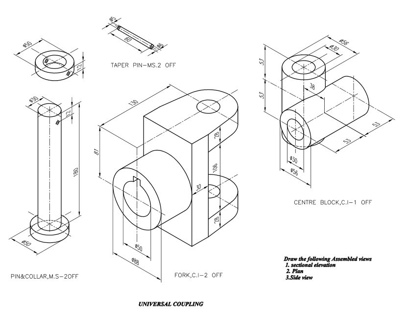 autocad mechanical engineering drawings