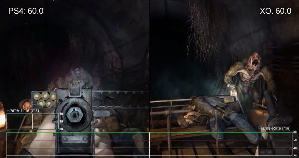 Speedy Freaks: Metro Redux PS4 vs. Xbox One frame rate tests