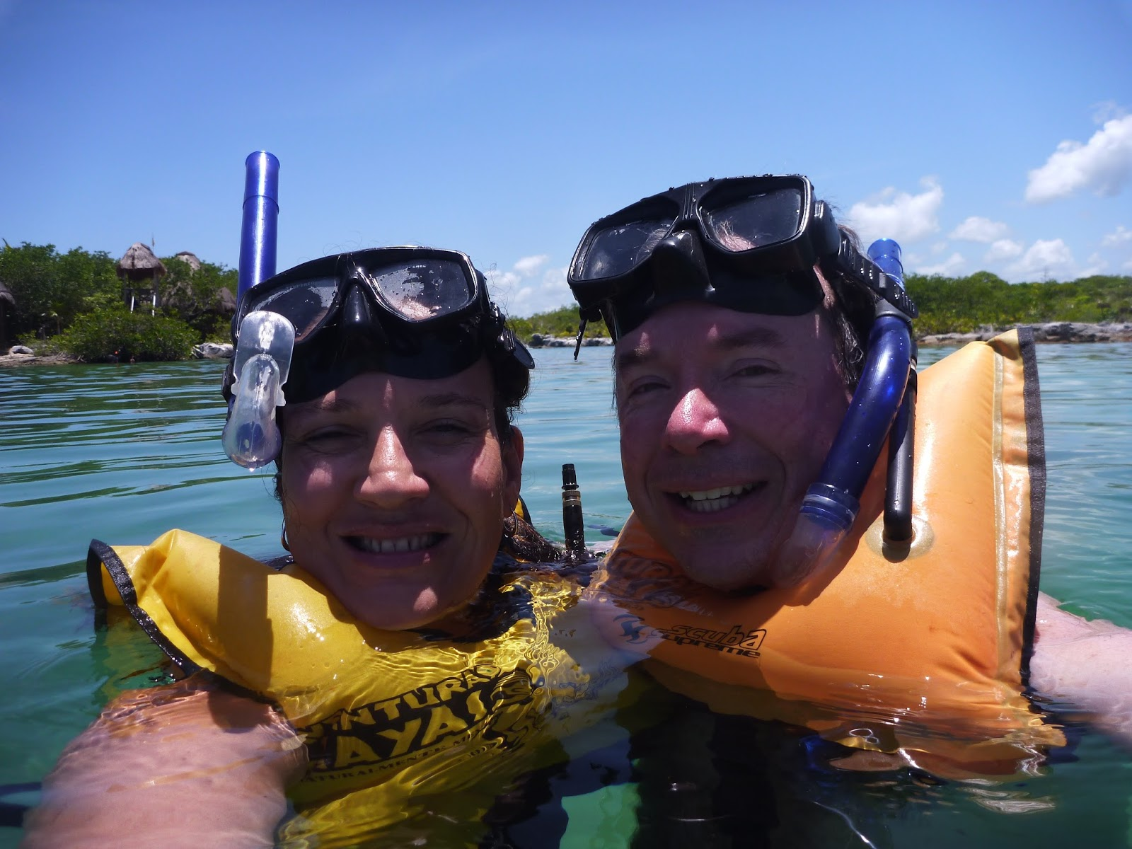 For The Second Half Of Tour They Drove Us To Small Beach Community Akumal Snorkel