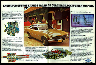 propaganda Ford Maverick - 1978.  brazilian advertising cars in the 70s; os anos 70; história da década de 70; Brazil in the 70s; propaganda carros anos 70; Oswaldo Hernandez;