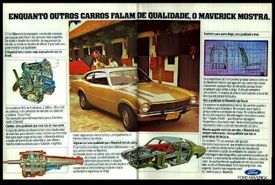 propaganda Ford Maverick - 1978.  brazilian advertising cars in the 70s; os anos 70; história da década de 70; Brazil in the 70s; propaganda carros anos 70; Oswaldo Hernandez;