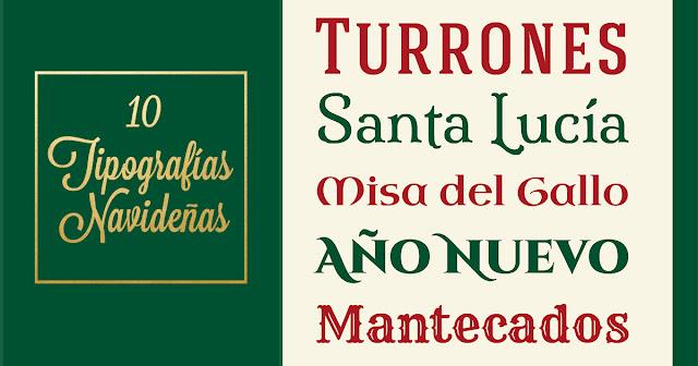 Tipografía navideña