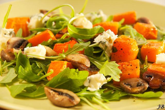 salade met bonen warme
