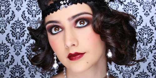 maquillaje vintage años 20