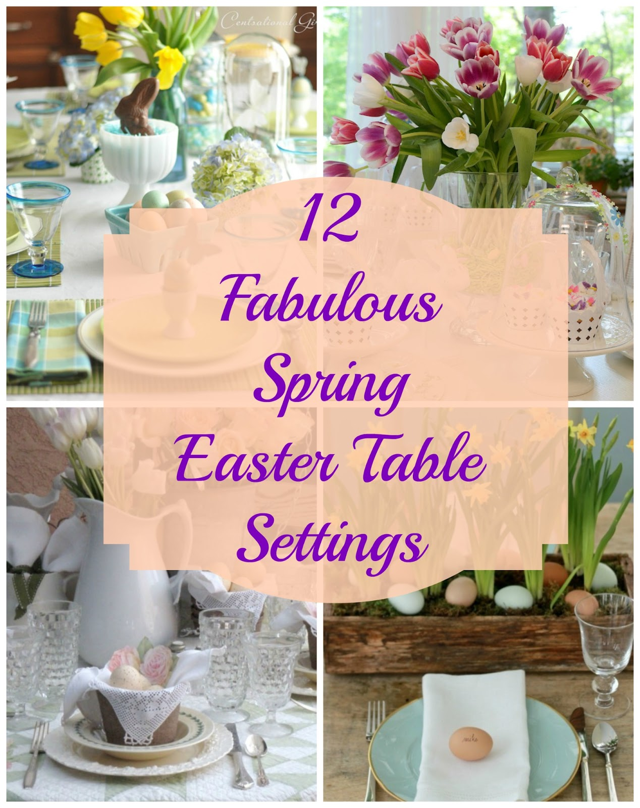 sc 1 st  MyThirtySpot & Sunday Brunch: 12 Spring Easter Table Settings - MyThirtySpot