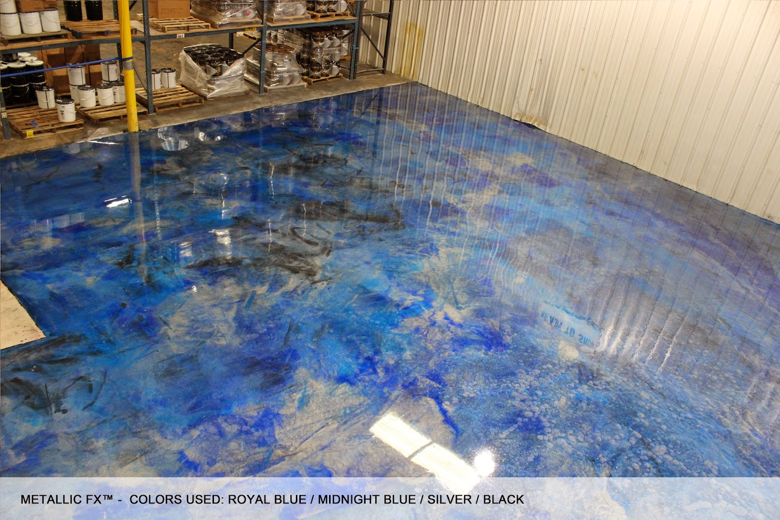 Surfkoat new metallic coatings on concrete floors for Concrete floor coatings