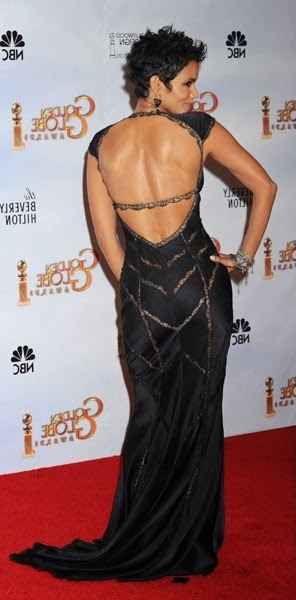 Halle Berry-2010 Globe Awards, rear view