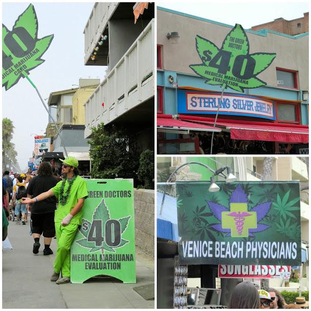 Em Venice Beach, na Califórnia, Médicos Verdes Prescrevem Maconha Medicinal.