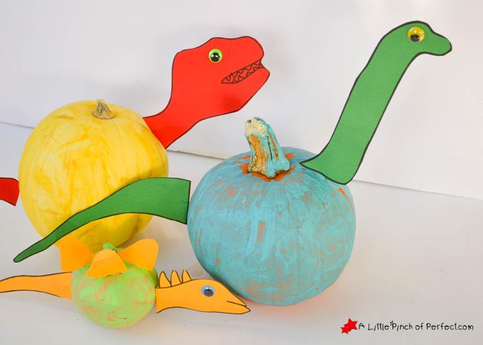 Dinosaur pumpkin carving stencil