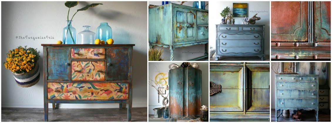 The Turquoise Iris ~ Furniture & Art