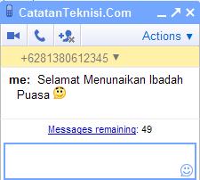 sms gratis dengan gmail