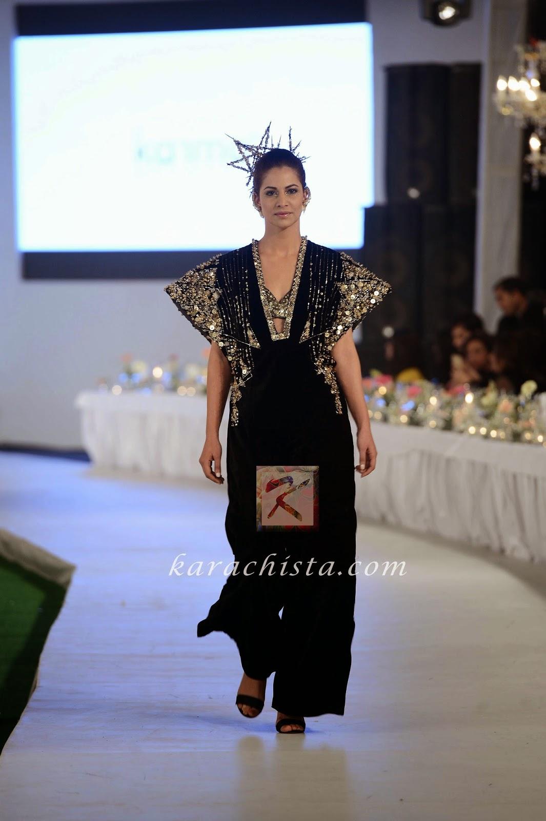 Cybil Chaudhry in KARMA Swarovski crystals ensemble