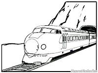 Mewarnai Gambar Kereta Express Melewati Terowongan
