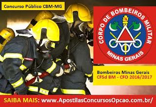 Apostila Concurso Bombeiros Minas Gerais-MG CBMMG 2016 (CFSd e CFO)
