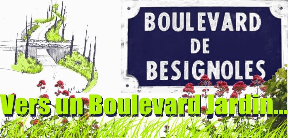 Boulevard de Bésignoles vers un boulevard jardin