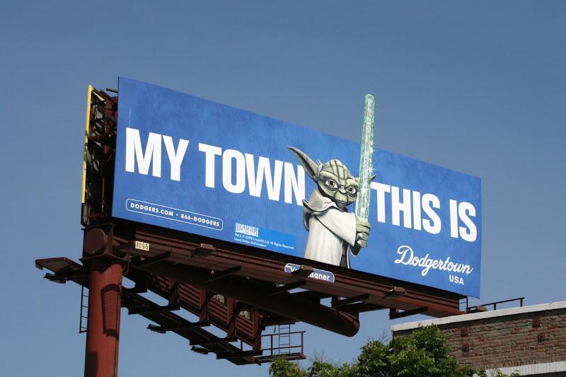 Yoda Dodgertown billboard