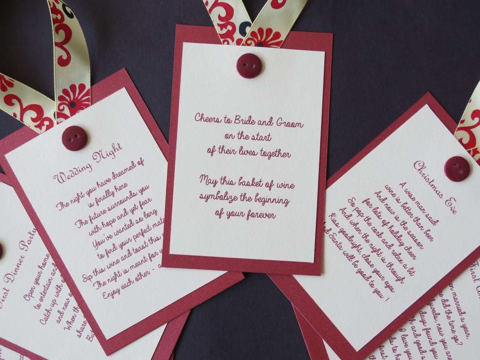 Wine Tags For Poem Basket Bridal Shower Perfect Gift