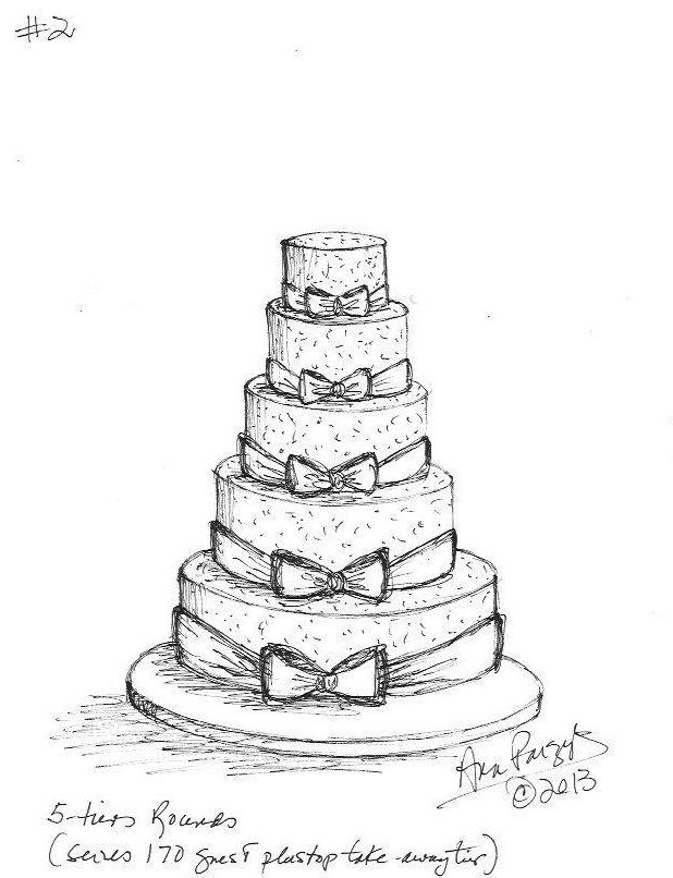 Ana Parzych s Wedding Cake Sketch