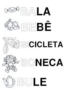 Silabário: ba, be, bi, bo, bu