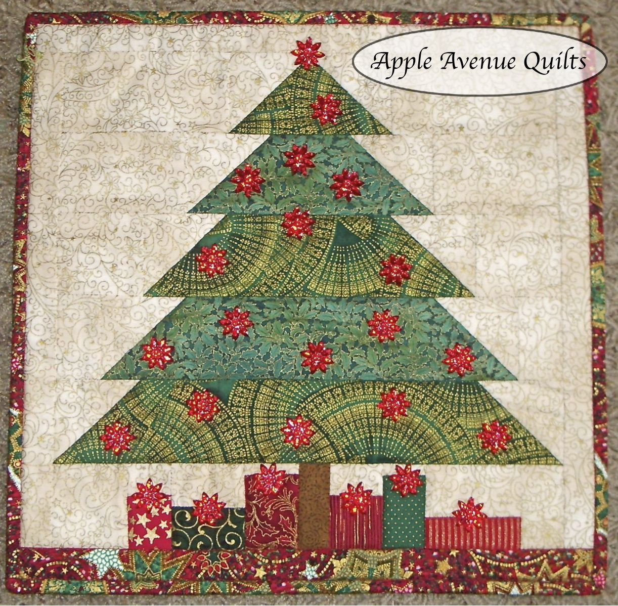 Free Quilt Patterns Christmas Tree : Apple Avenue Quilts: December Blocks