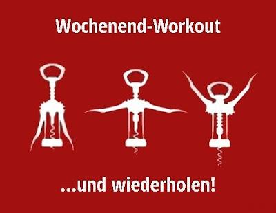 Wochenend-Workout mit dem Korkenzieher.