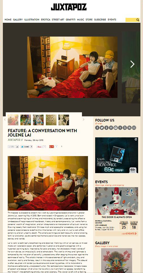 After Midnight featured on Juxtapoz Magazine
