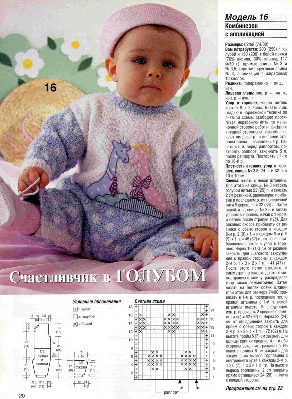 Вязание спицами модели для ребенка 801