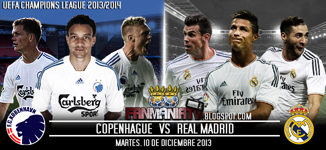 Champions League: Copenhague vs Real Madrid