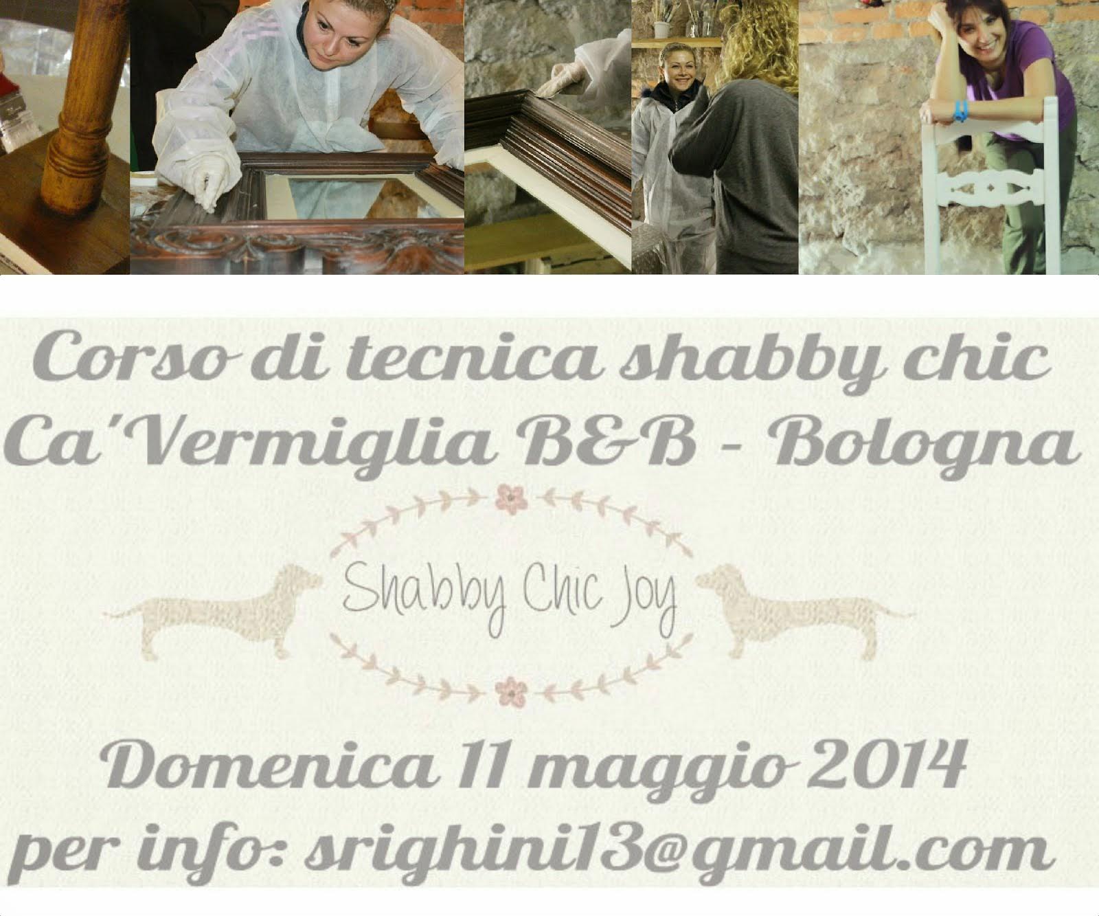 <strong>Corso di tecnica Shabby Chic 11 maggio 2014 a Bologna<strong></strong></strong>