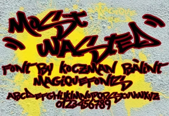 Free Graffiti Fonts - Most Wanted