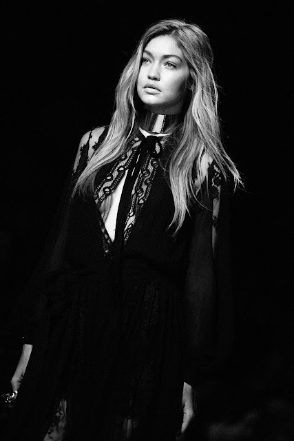 Gigi Hadid at Elie Saab Spring/summer 2016 Paris Fashion Week - Cool Chic Style Fashion