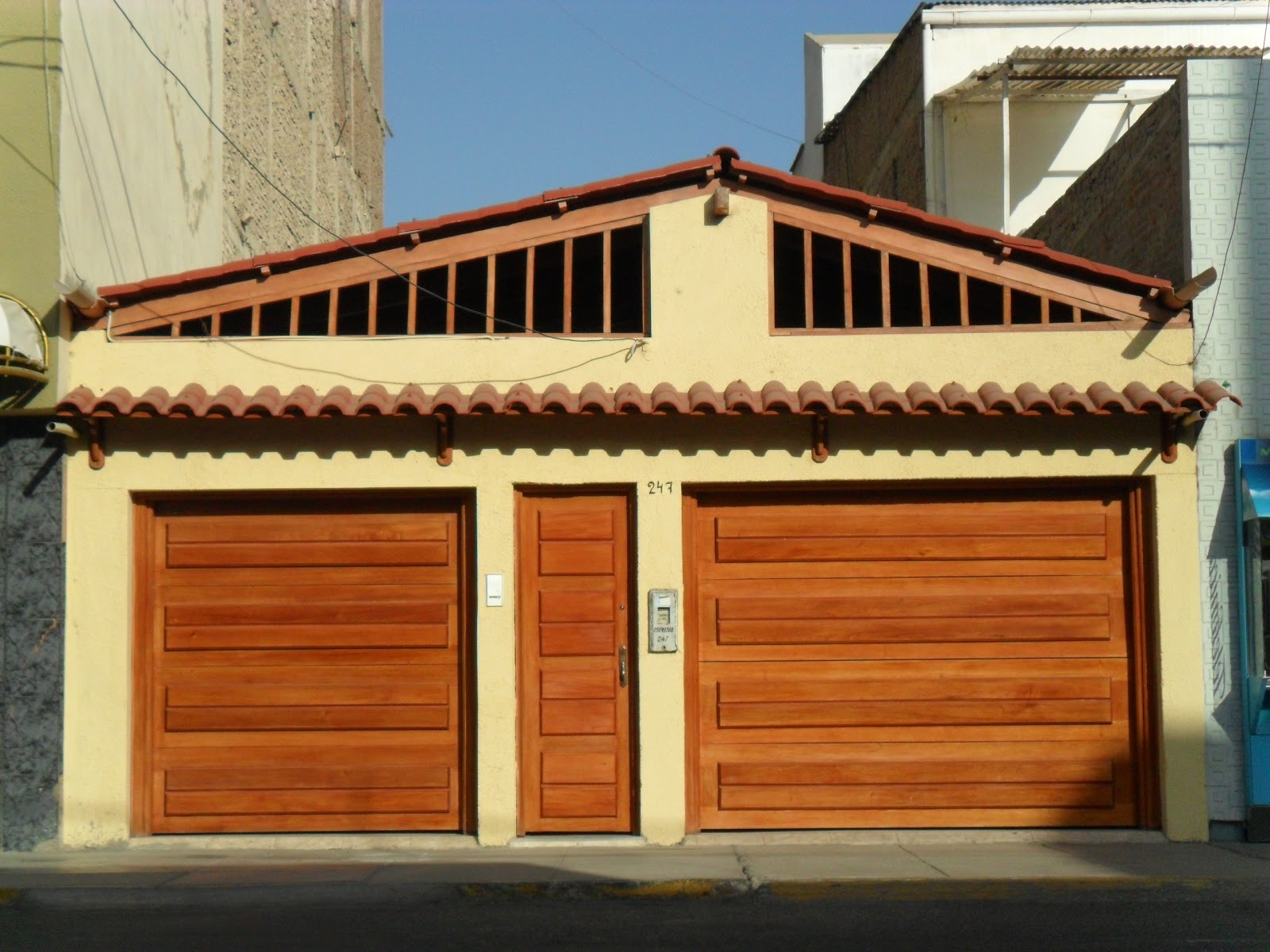 Fachadas y casas fachadas de casas de 1 piso for Modelos de techos para cocheras