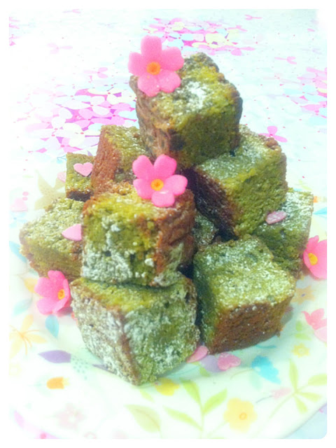 Cherie Kelly's Green Tea (Matcha) Chocolate Brownies