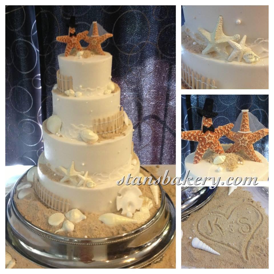 Beach Wedding Cake | Leslie\'s Cake Blog from Stan\'s Northfield Bakery