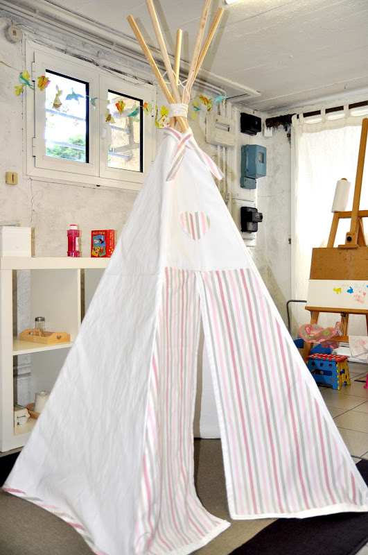 vite vite un tipi pour les enfants. Black Bedroom Furniture Sets. Home Design Ideas
